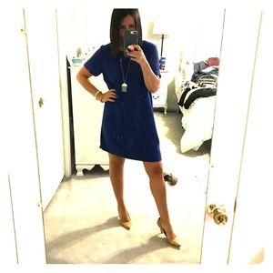 Blue dress with awesome back detail!